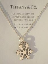 Tiffany & Co Sterling Silver Snowflake Charm Collier