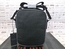 TED BAKER Mini Flight Bag HELIOX Black Embossed Textured Shoulder Body Bags  BNWT 38571877ffaf3