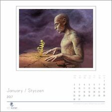 Artéclat Calendar 2017 with artwork by Tomasz Alen Kopera. Wall Calendar