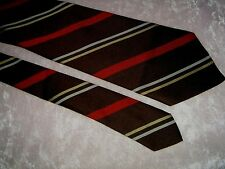 "vintage neck tie necktie FUNKY CHUNKY fat wide 4.5"" brown striped 1970s DISCO"
