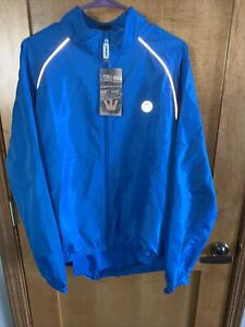 NWT Canari Microlight Shell Cycling Jacket - Mens Blue Reflective
