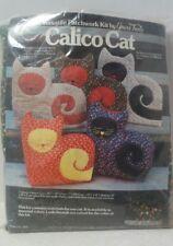 Vintage Patchwork Calico Cat Doorstop Tea Cozy Craft Kit Yours Truly 70s Era