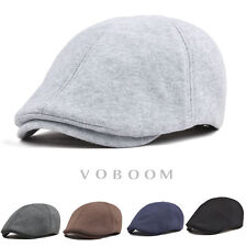 100% Cotton Ivy Cap Men's Soild Gatsby Cap Newsboy Flat Hat Cabbie Summer Hat L3