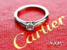 CARTIER 1895 SOLITAIRE RING PLATIN 0,23ct. DIAMANT BRILLANT 950 PLATINUM DIAMOND