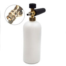 "1L Foam Lance Cannon 1/4"" Connect Adapter Pressure Washer Gun Car Cleaning"