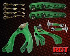 1992-1995 Hona Civic Front & Rear Camber Upper Lower Control Arm Full Kit Green