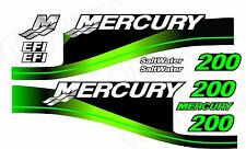 Green MERCURY 200 motore fuoribordo quattro tempi MOTORE KIT ADESIVI DECAL