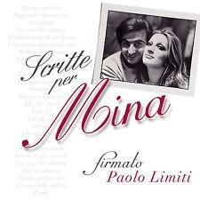 SCRITTE PER MINA FIRMATO PAOLO LIMITI DOPPIO CD NUOVO SIGILLATO !!