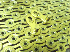 NEW Edition KMC X9SL Chain Ti & Gold 9 Speed 116 Links  Free postage