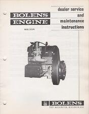 BOLENS SNOWMOBILE ENGINE MODEL 2Z15/70 DEALERS SERVICE MANUAL (165)
