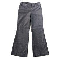 ANN TAYLOR LOFT Ann Chambray Pants Women's Petite Size 0P Flat Front Dress Pants