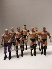 Lot Of 7 Mattel WWE WWF WCW Wrestling Figures 2010 Cena Steve Austin The Rock