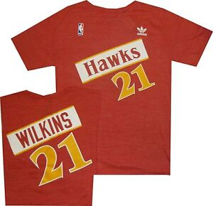 Atlanta Hawks Dominique Wilkins Adidas Throwback Tri Blend T Shirt
