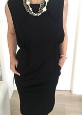 JASON BRUNDSON WOMENS DRESS BLACK LABEL LINED TAILORED BLACK CORAL SZ 8