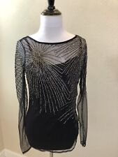 NEW WITHOUT TAGS: Women's CLUB MONACO Gray Sequin Starburst Pattern Top - Small