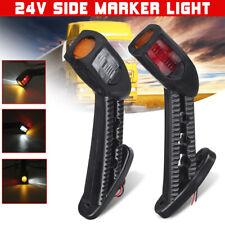 2x 24V LED Side Marker Lights Stalk Outline Lamp Indicator Truck Trailer Van