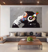 poster print street pop art Monkey Ape Dj painting wall decor