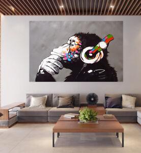 poster print street pop art Monkey Ape Dj painting wall decor