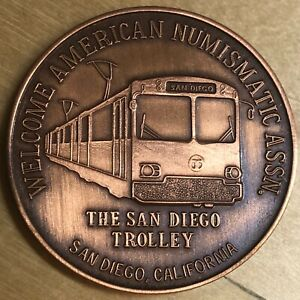 San Diego ANA Copper Medal from The Roses; San Diego Trolley (#x1127)
