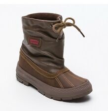 Levi's Pablo Boy's Kid's High top shoes leather textile brown boots UK 12.5 EU31