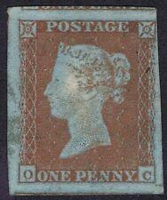 1841 1d rouge oc très fine grandes marges tout rond