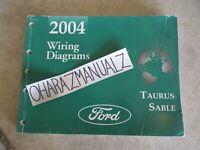 2004 FORD Taurus Mercury Sable Wiring Diagrams Manual OEM