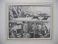 Kupferstich aus Basedows Elementarwerke , 1774, Walfang etc.