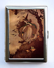 Halloween Witch Cigarette Cigarette Case id case Wallet Business Card Holder