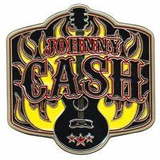 Johnny Cash Guitar Logo Metal Enamel Belt Buckle