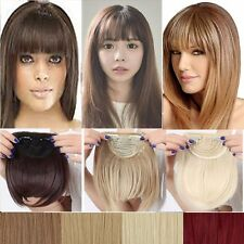 100% Real Natural Hair Extension Clip In Front Hair Bangs Fringe Thick Hair UD5