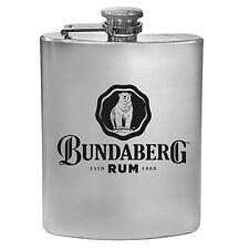 Bundy Bundaberg Rum Stainless steel hip flask Spirit Drinking Bar Man Cave Gift