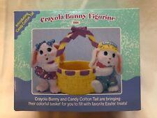 "1991 Hallmark ""Crayola Bunny Figurine"" Bunnies with Basket - Easter"