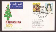 Australia 1979 POSTA AEREA FDC. Natale. natività & Madonna col Bambino