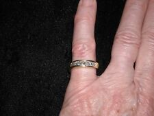 344 18k yellow gold diamond band 5.5 grams 1 carat princess G VS 2 SI 1 size 5