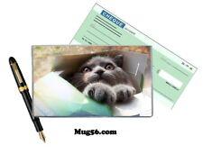 chat 103 protège porte chéquier personnalisable