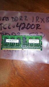 1GB   DDR2  1RX8  PC2-4200R  DDR2-533  128X8   9CHIPS  244PIN  MicroDimm ECC REG