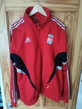 Vintage Retro Adidas Carlsberg Rojo Fútbol Liverpool 1/4 Cremallera Chaqueta De Chándal