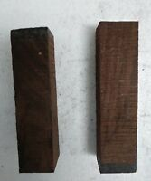"(2) LOT OF Rosewood Pool Cue Blanks, Turning Wood, Gun Knife Scales 1 1/2"" x 6"""