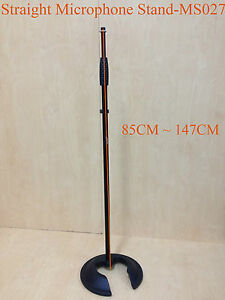 Haze MS027 Stackable Cast Iron Round Base,Rod Combination Microphone Stand-Black