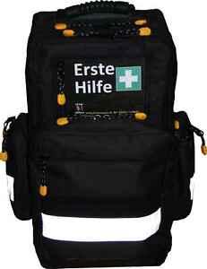 Erste Hilfe Notfallrucksack Sport Freizeit & Event - schwarzes Nylonmaterial - W