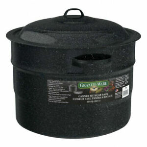 Granite Ware 21.5-Quart Canner with Jar Rack