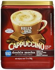 Hills Bros. Sugar-free Double Mocha Cappuccino, 12-oz. Canister (Pack of 3), New