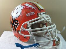 ADULT Riddell Game Used Worn TONY GILBERT Football Helmet CENTRAL HIGH MACON GA
