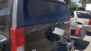 06-08 Hummer H3 Deck Lid Tail Gate BLACK OEM Flaws fire damage