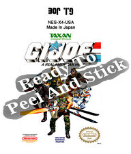GI Joe A Real American Hero Nes Cartridge Replacement Game Label Sticker Precut