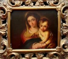 Antique OLD MASTER Oil Painting The MADONNA & INFANT CHRIST Murillo Interest