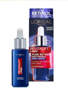 L'Oreal Face Night Serum Revitalift Laser Retinol Deep Wrinkle Anti Age 30 ml
