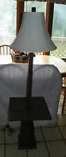 Ranch Oak Tile Top Lamp Table / Side Table