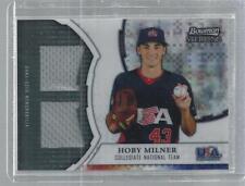 Hoby Milner 2011 Bowman Sterling USA Baseball Dual Team USA Jersey XFractor Card