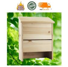 Bat House Outdoor Box Shelter Cedar Wood Natural Heavy Duty